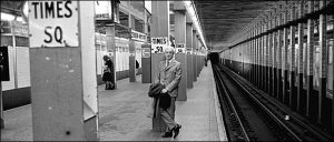 Saul Bellow waiting for the subway