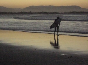 Surfer going home, Byron Bay, Australia