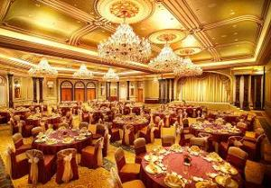 The banquet hall at the Legendale Hotel, Beijing