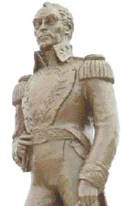 Statue of Simon Bolivar in Kingston, Jamaica