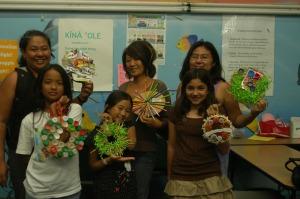 Teachers and children at the Kokua Hawaii Foundation