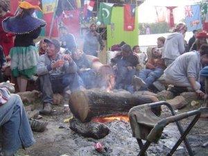 Campfire at Glastonbury
