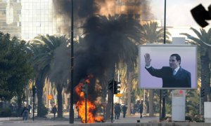 Fiery protest in Tunis