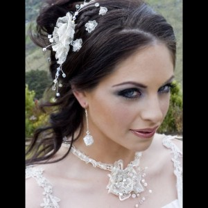 Lace flower fascinator