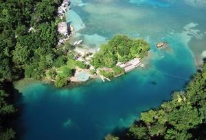 An aerial view of Blue Lagoon
