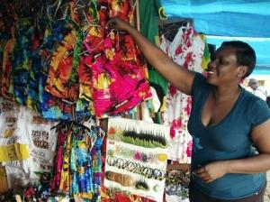 A happier craft vendor in Ocho Rios