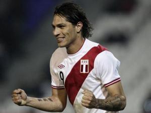 Peru forward Paolo Guerrero