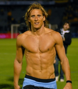 Uruguayan player Diego Forlan (about to move to Inter Milan)