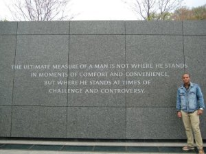 Maurice Smith at the Martin Luther King Memorial in Washington, DC