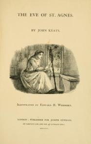 "The 1856 publication of ""The Eve of St. Agnes"" by John Keats"