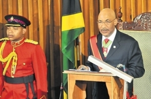 Sir Patrick Allen reads the Throne Speech in Parliament
