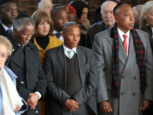 Attendees at Professor Tobias' funeral on June 11