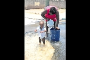 Water wastage in Denham Town