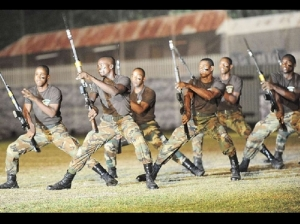 A drill during the JDF Military Tattoo