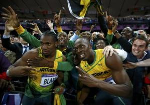 Yohan Blake and Usain Bolt