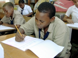 Student sitting examination