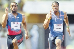 Tyson Gay and Yohan Blake race in Lausanne