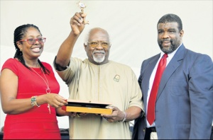 Dr. Julius Garvey gets the keys to the City of Kingston