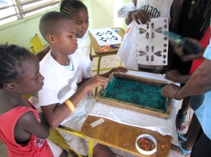 Trench Town Reading Centre screen printing