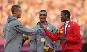 Trey Hardee, Ashton Eaton and Leonel Suarez