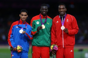 Luguelin Santos, Kirani James and Lalonde Gordon