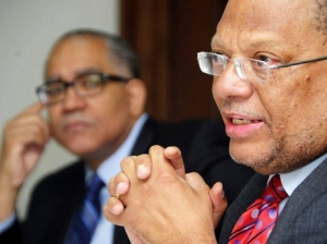 Minister of Finance Peter Phillips and Bank of Jamaica Governor Brian Wynter