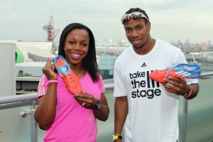 Veronica Campbell and Yohan Blake