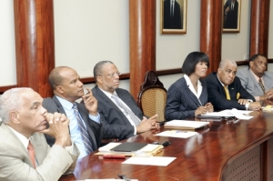 Jamaican Cabinet meeting