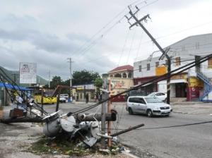 Damage to JPS poles