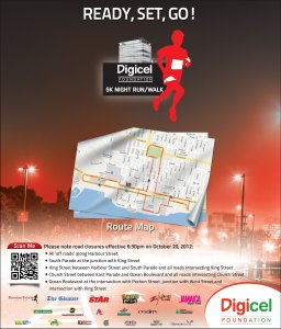 "Digicel's ""Take Back the Night"" 5K Run/Walk tonight"