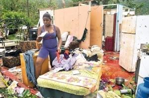 Eastern Jamaica resident house demolished