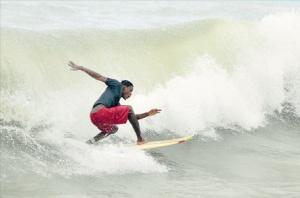Surfer in Bull Bay