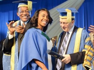 Shelly-Ann Fraser-Pryce graduates from UTech