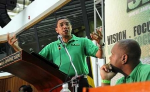 Andrew Holness at JLP Conference