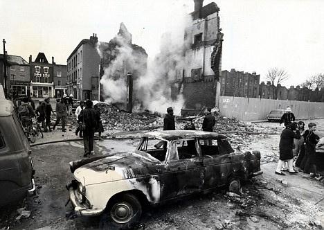 The Brixton riots...destructive, but perhaps cathartic.