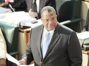 Finance Minister Peter Phillips.