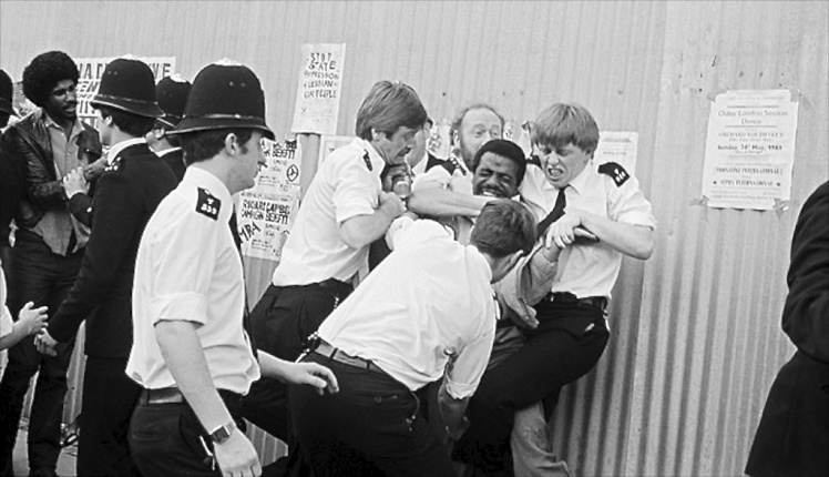 A scene from the Brixton riots of 1981. (Photo: UK Guardian)