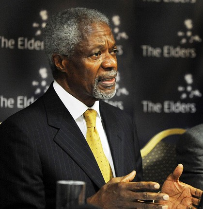 Former Secretary General of the United Nations Kofi Annan is a member of The Elders.