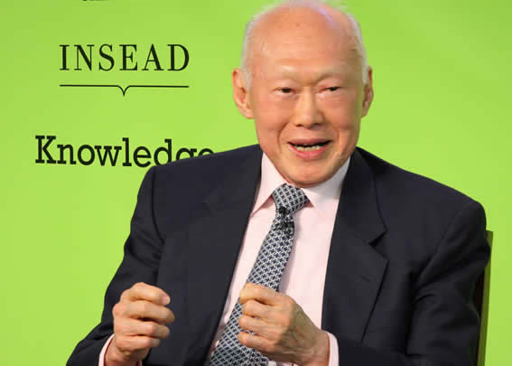Mr. Lee Kuan Yew, first Prime Minister of Singapore.