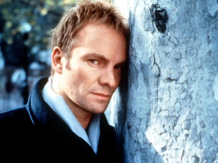 The other Sting, banging his head against a tree.