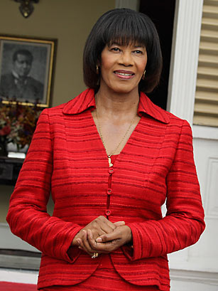 """In the meantime, Portia Lucretia Simpson Miller, Jamaica's first female Prime Minister, remains loyal to a party whose internal dynamics she has been unable to influence from her position of gender and class isolation, carefully protected from public view."" (Photo: Chris Jackson/Getty Images)"