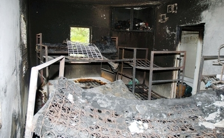 "The burnt-out dormitory after the fire at Armadale Juvenile Correctional Centre for girls in St. Ann in 2009. The girls were ""on lock-down"" and could not escape. (Photo: Gleaner)"