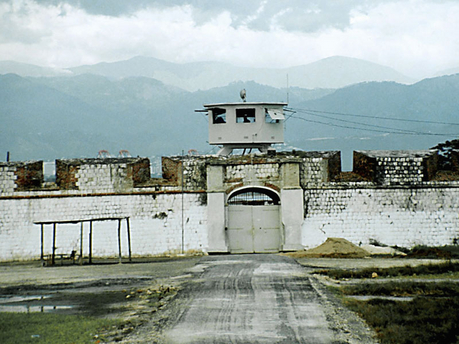 The entrance to Fort Augusta women's prison near Portmore, St. Catherine, which was built by the British in the 1740s as a sea defense.