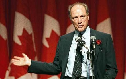 Canadian Prime Minister Pierre Trudeau speaking in 1983. (Photo: Reuters)