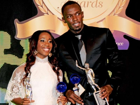 Ms. Shelley-Ann Fraser-Pryce and Mr. Usain Bolt, Sportswoman and Sportsman of the Year 2012. Both looking very lovely, I must say. (Photo: Winston Sill/Freelance Photographer)