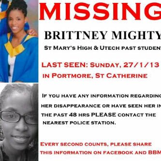"This young lady's body was found on the Port Royal road earlier this week. We had been circulating this ""Missing"" notice on Facebook."