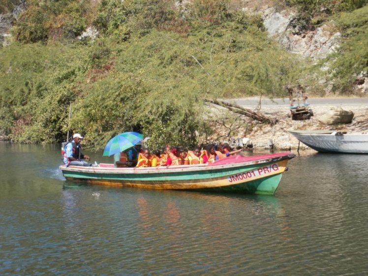 A boat trip in Salt River, Clarendon for World Wetlands Day 2013 (Photo: Caribbean Coastal Area Foundation)