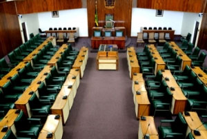 The Jamaican House of Representatives as it must have looked for a large part of the day on Tuesday. Please tell me I am wrong and that other important national business was under way here... (Photo: Jamaica Information Service)