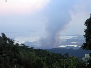 One of several fires at the Riverton City dump (NOT landfill) over the years. This is from 2006. (Photo: CaribYard.com)