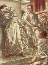 Julius Caesar came to a sticky end in the Ides of March. The soothsayer did warn him (by the way, what IS a sooth?) Image from crystalinks.com.